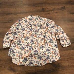 Printed floral blouse